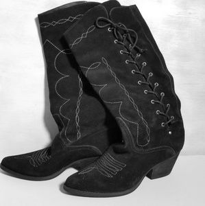 New without box REBA Western SUEDE BOOTS